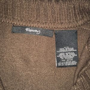 Raisey Sweaters - Cute chocolate brown collared sweater with buttons